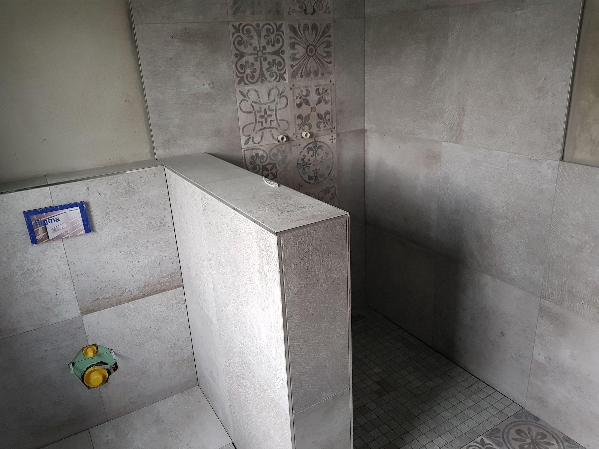 Dusch Abtrennung Rohbau
